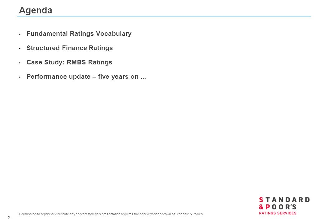 Agenda Fundamental Ratings Vocabulary Structured Finance Ratings