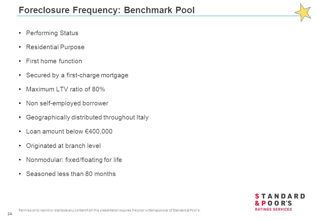 Foreclosure Frequency: Benchmark Pool