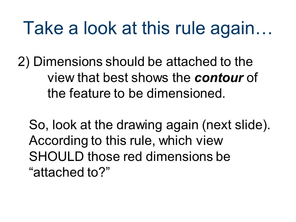 Take a look at this rule again…