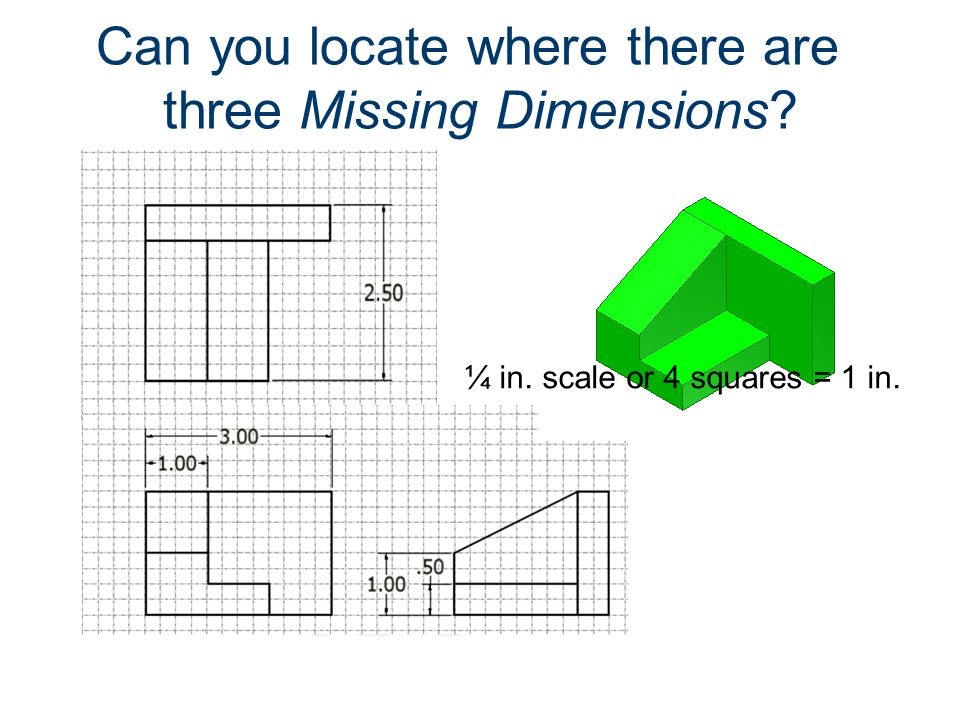 Can you locate where there are three Missing Dimensions