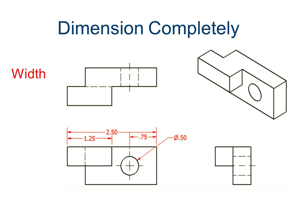 Dimension Completely Width Dimensioning Gateway To Technology®