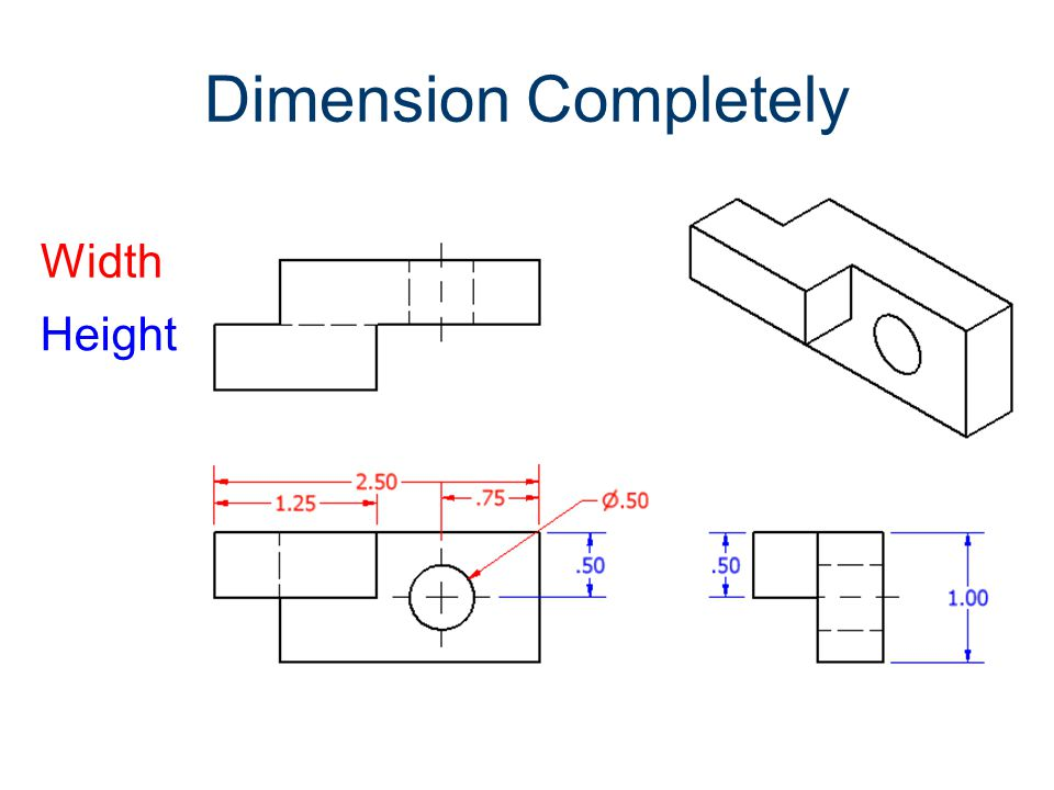 Dimension Completely Width Height Dimensioning Gateway To Technology®