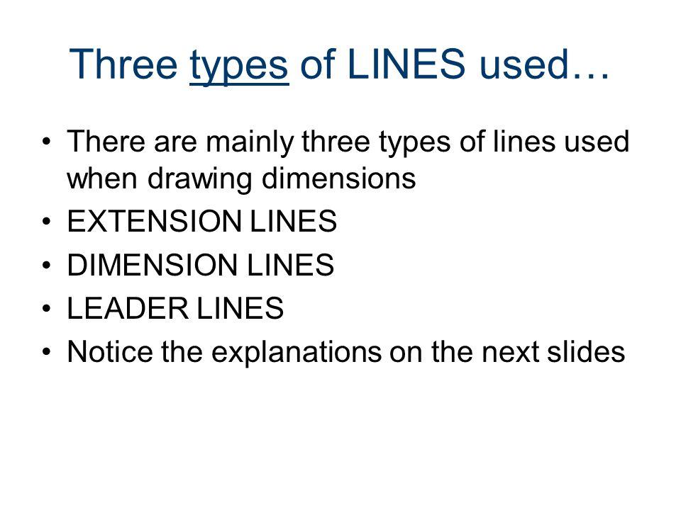 Three types of LINES used…