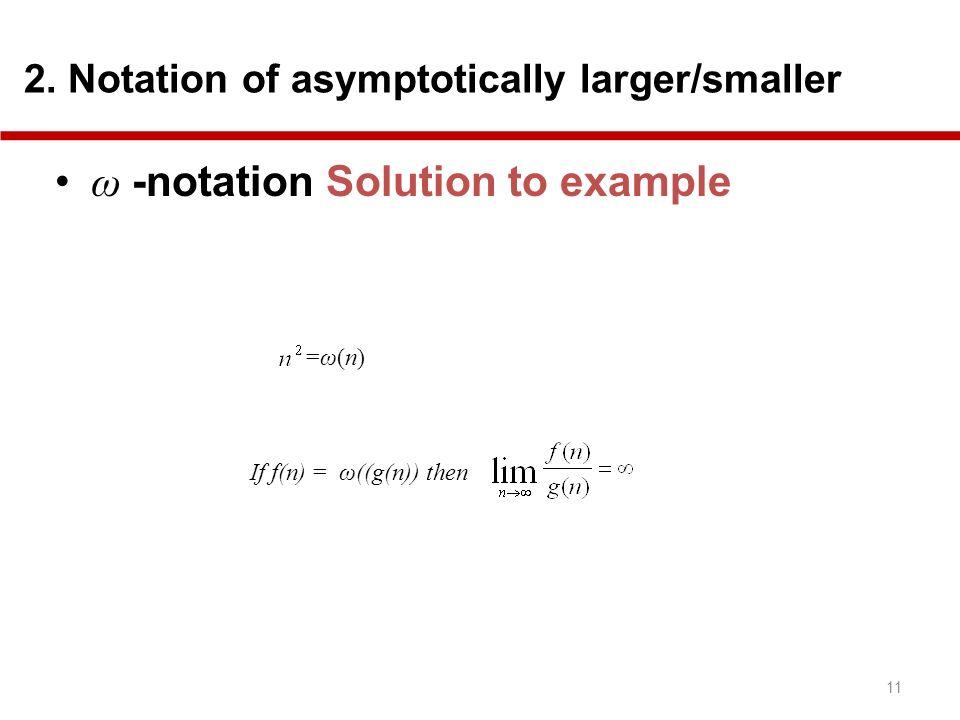 ω -notation Solution to example