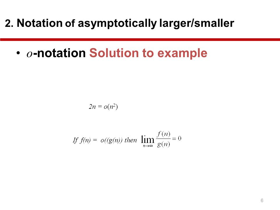o-notation Solution to example