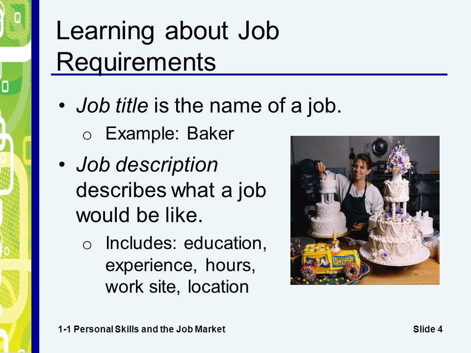 Learning about Job Requirements