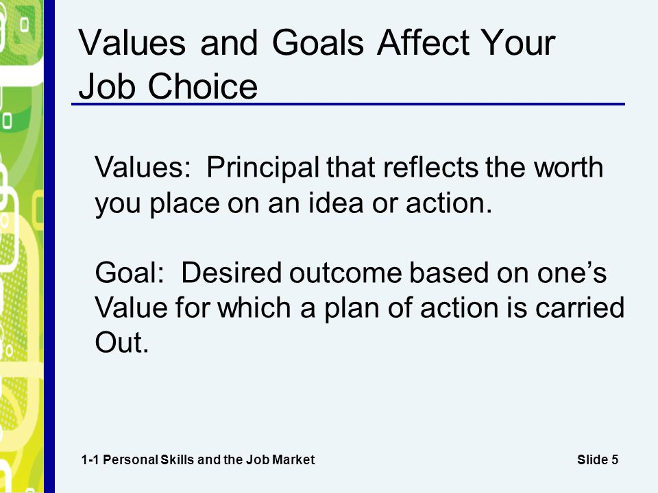 Values and Goals Affect Your Job Choice