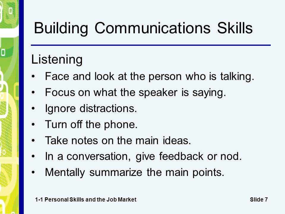 Building Communications Skills