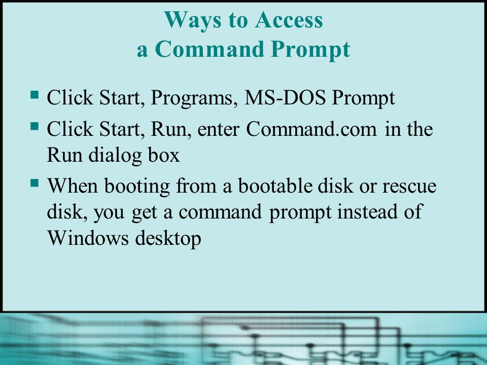 Ways to Access a Command Prompt