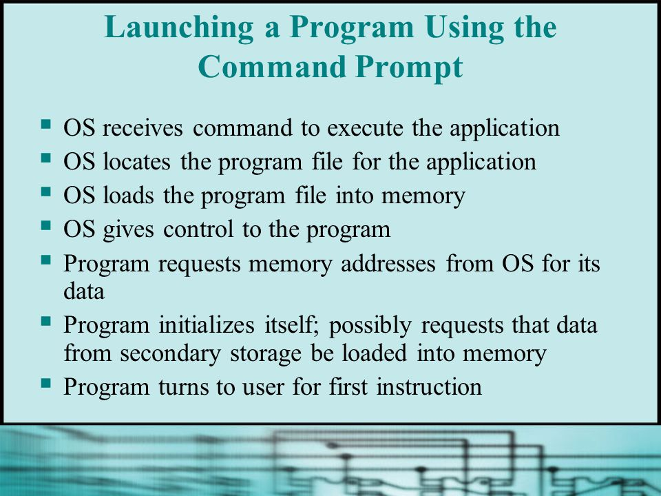 Launching a Program Using the Command Prompt