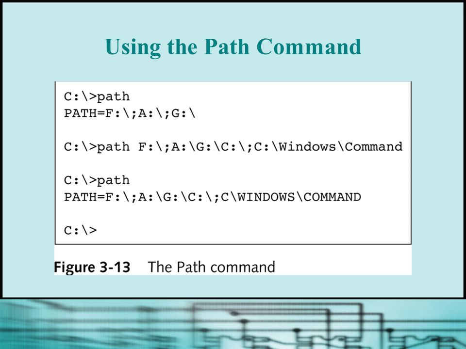 Using the Path Command