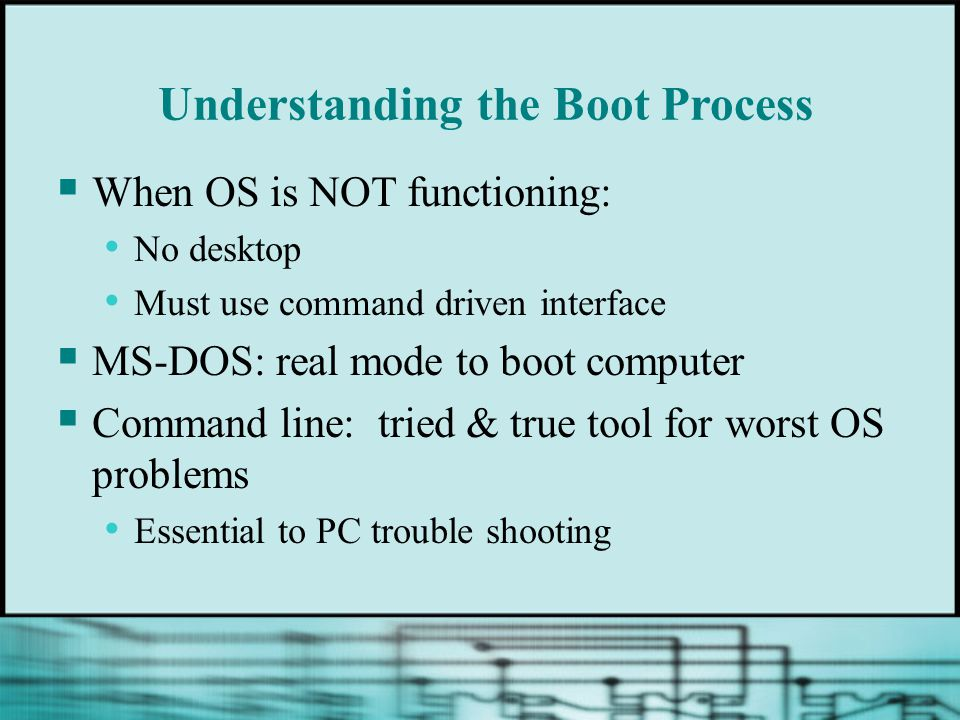 Understanding the Boot Process
