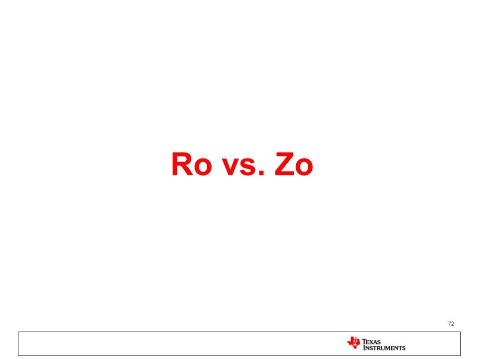 Ro vs. Zo