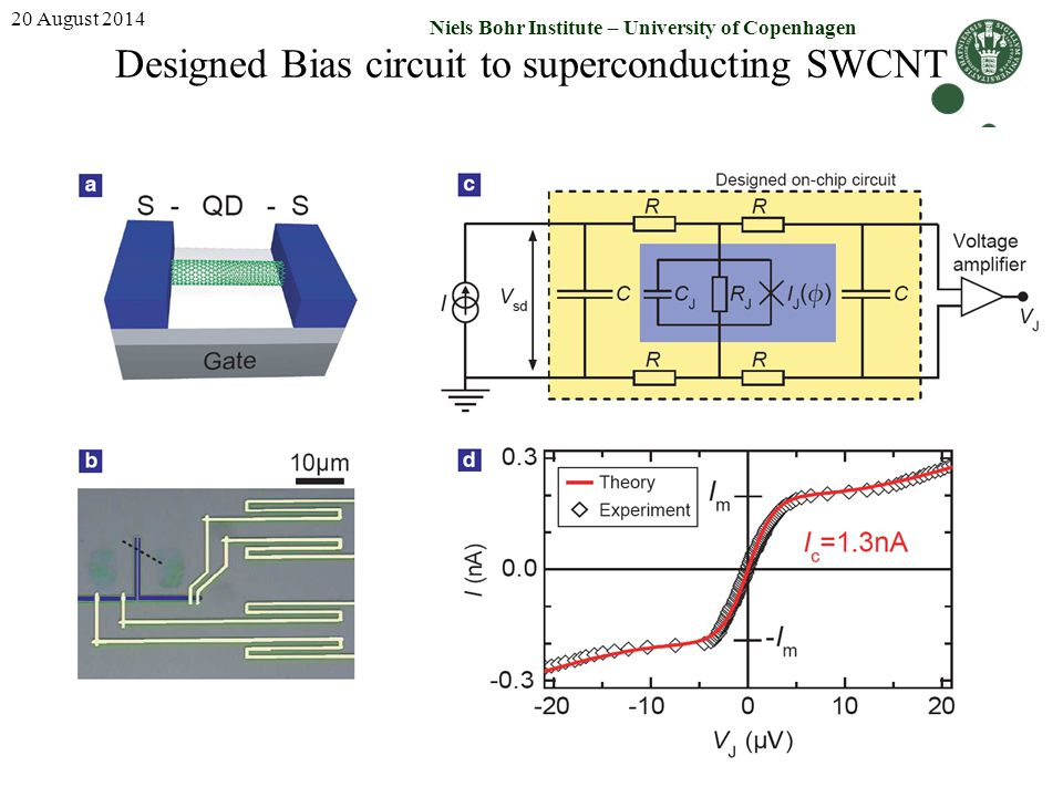 Designed Bias circuit to superconducting SWCNT