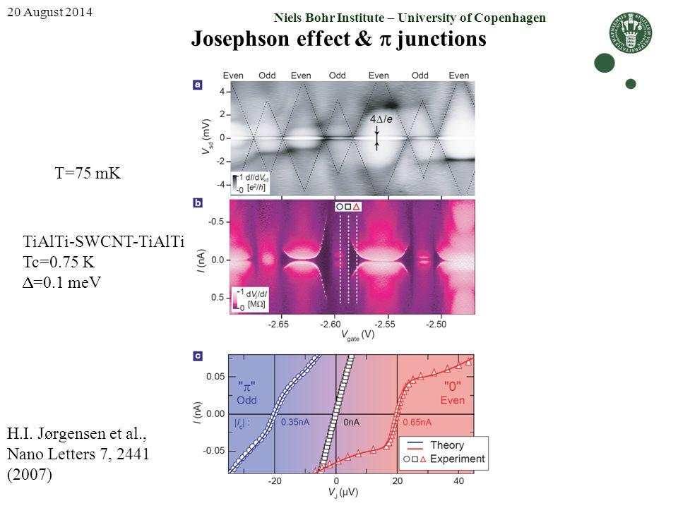 Josephson effect & p junctions