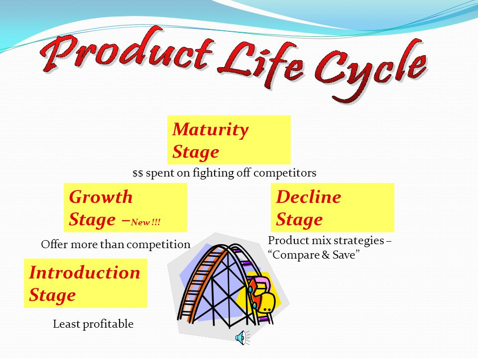 Product Life Cycle Maturity Stage Growth Stage –New !!! Decline Stage