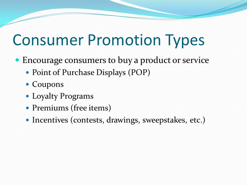 Consumer Promotion Types