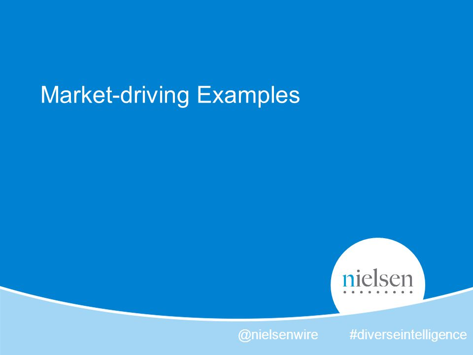 Market-driving Examples