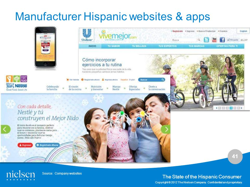 Manufacturer Hispanic websites & apps