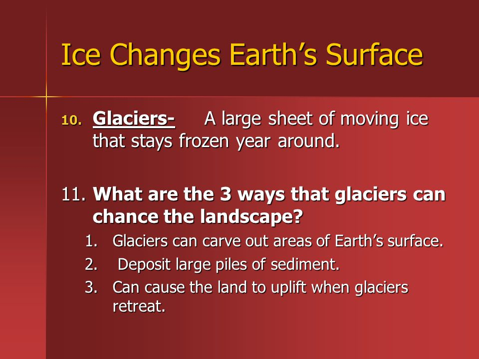 Ice Changes Earth's Surface