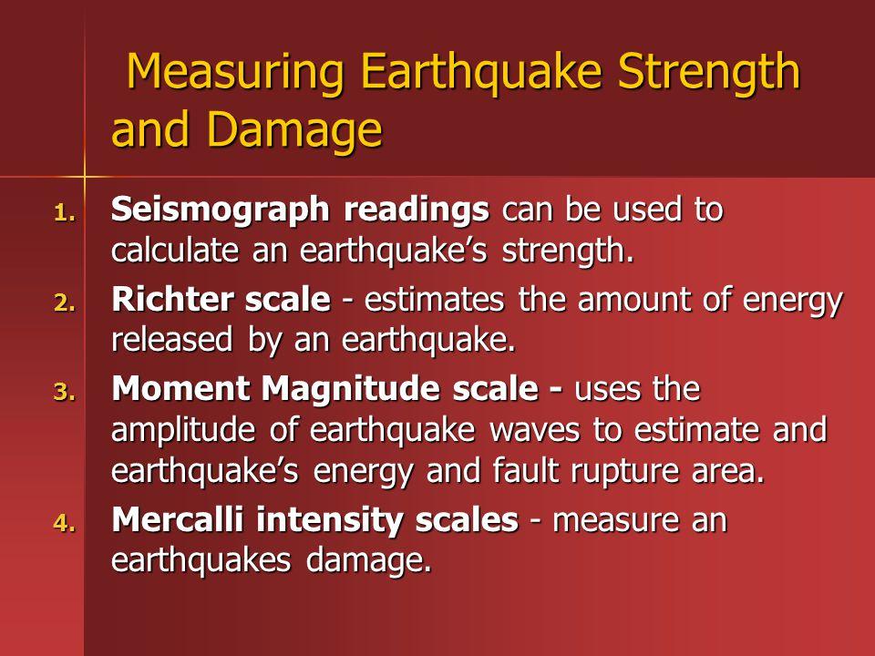 Measuring Earthquake Strength and Damage