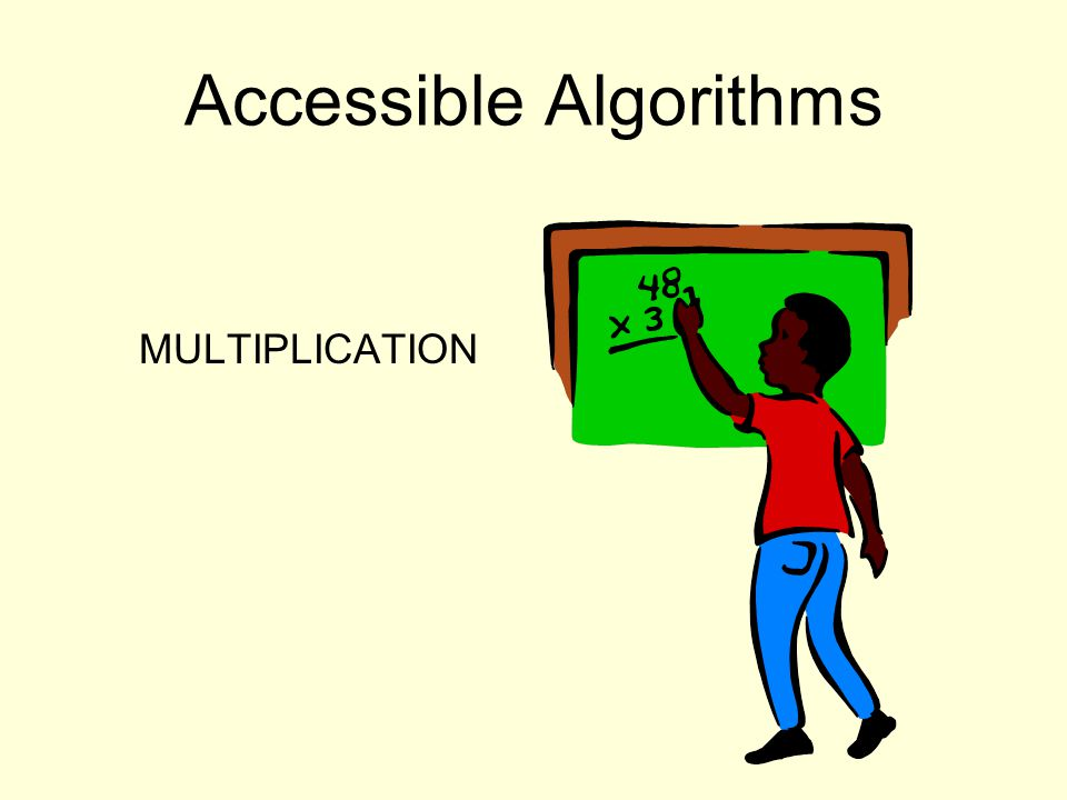 Accessible Algorithms