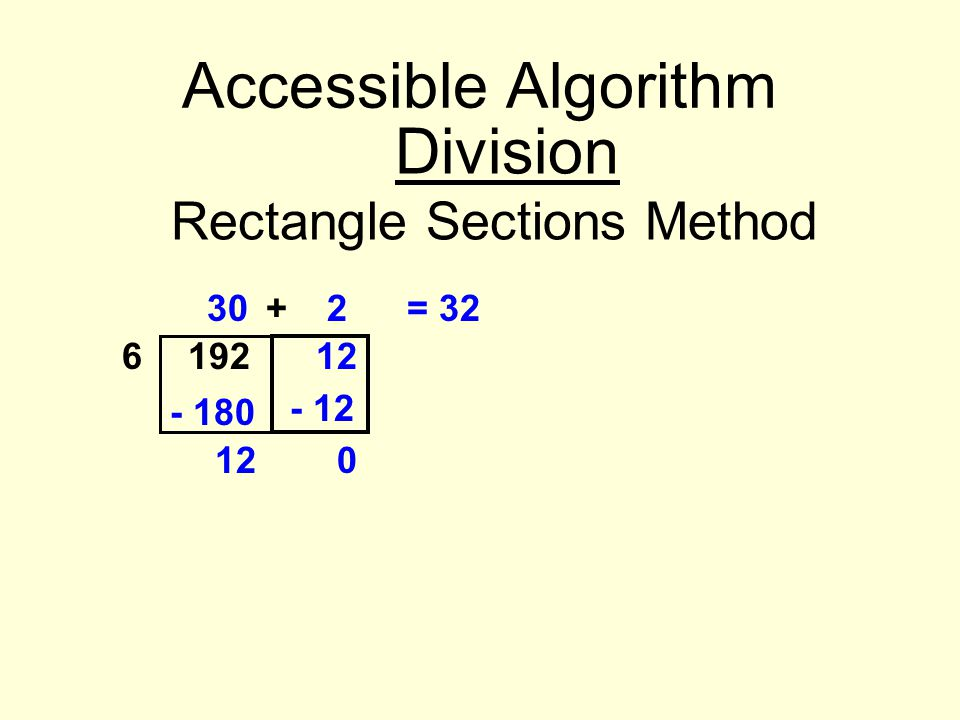Rectangle Sections Method