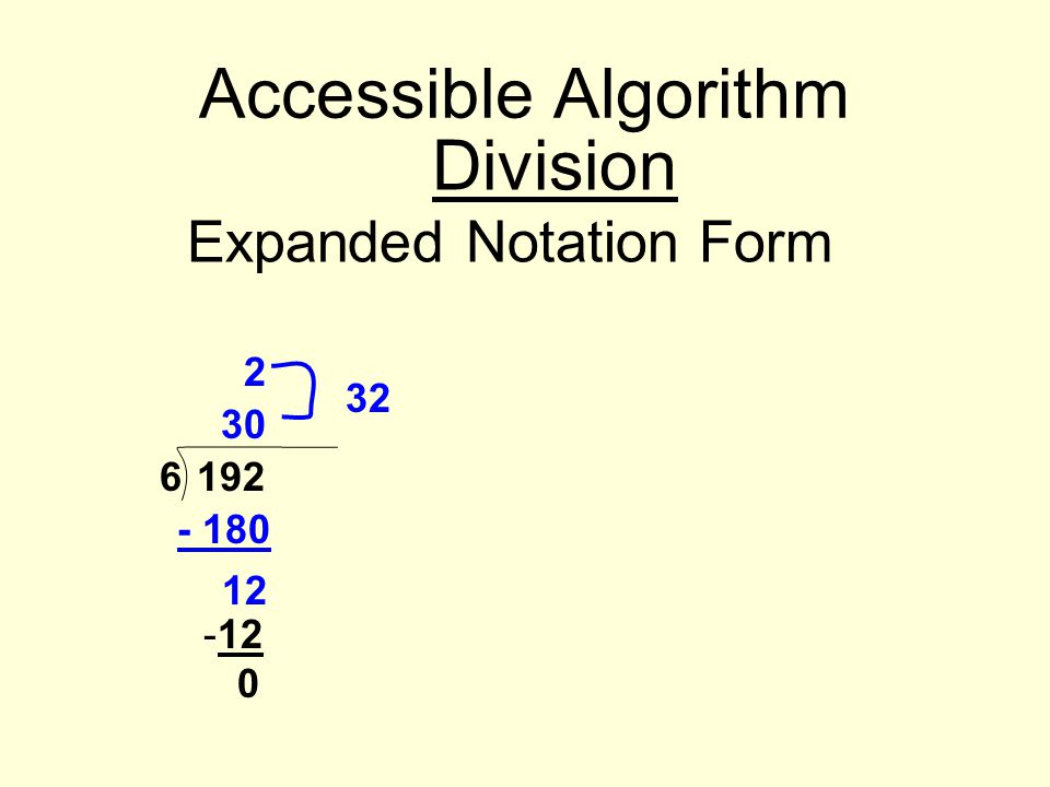 Expanded Notation Form
