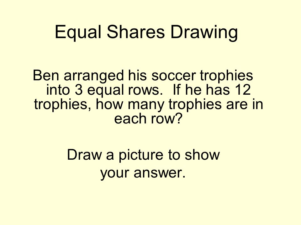 Equal Shares Drawing