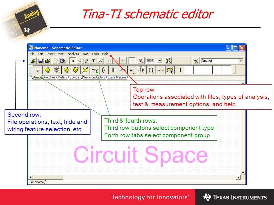 Tina-TI schematic editor
