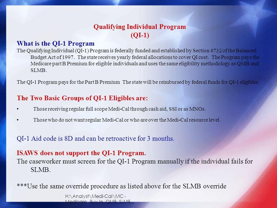 Qualifying Individual Program