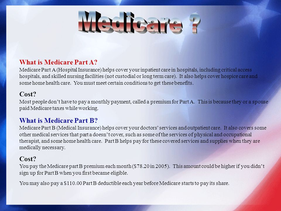Medicare What is Medicare Part A Cost What is Medicare Part B