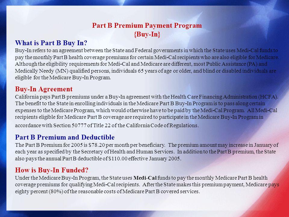 Part B Premium Payment Program