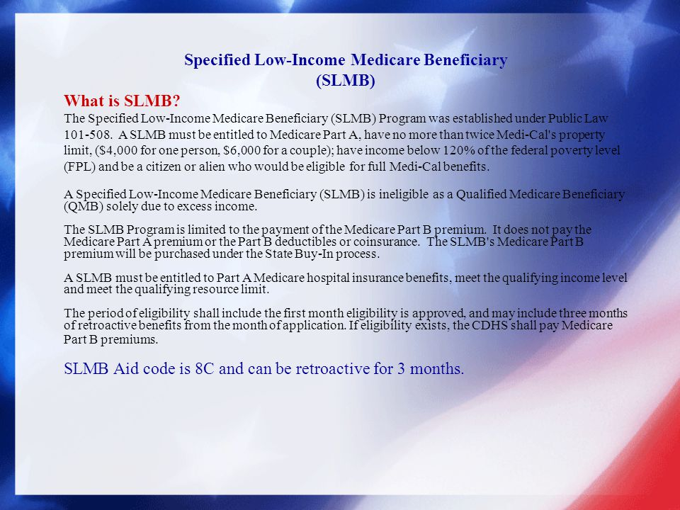 Specified Low-Income Medicare Beneficiary