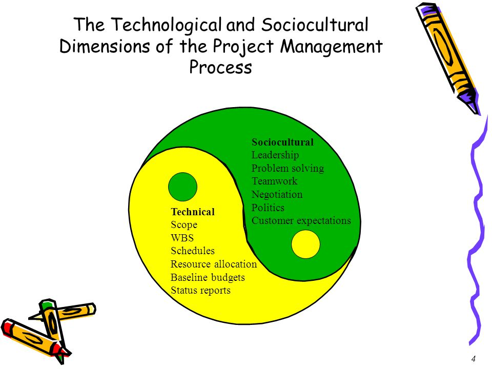The Technological and Sociocultural Dimensions of the Project Management Process