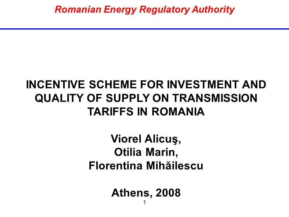 Romanian Energy Regulatory Authority Florentina Mihăilescu