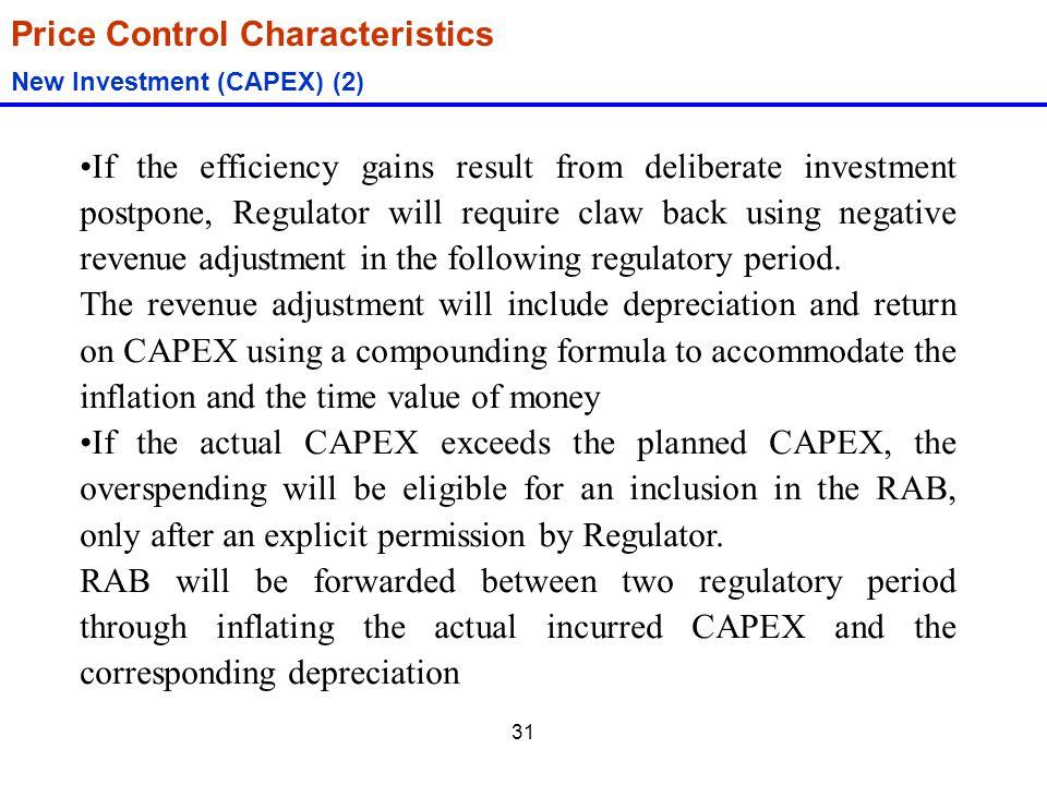 Price Control Characteristics