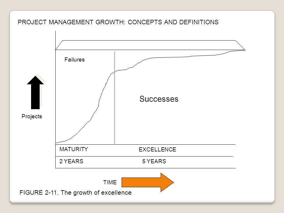 Successes PROJECT MANAGEMENT GROWTH: CONCEPTS AND DEFINITIONS