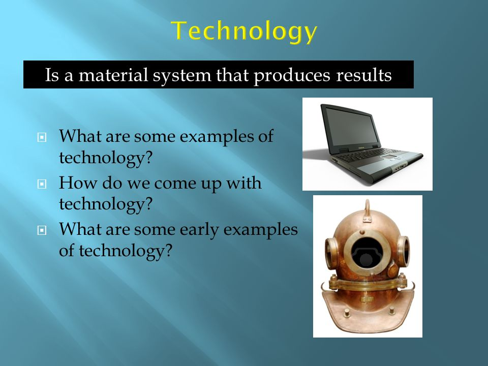 Is a material system that produces results