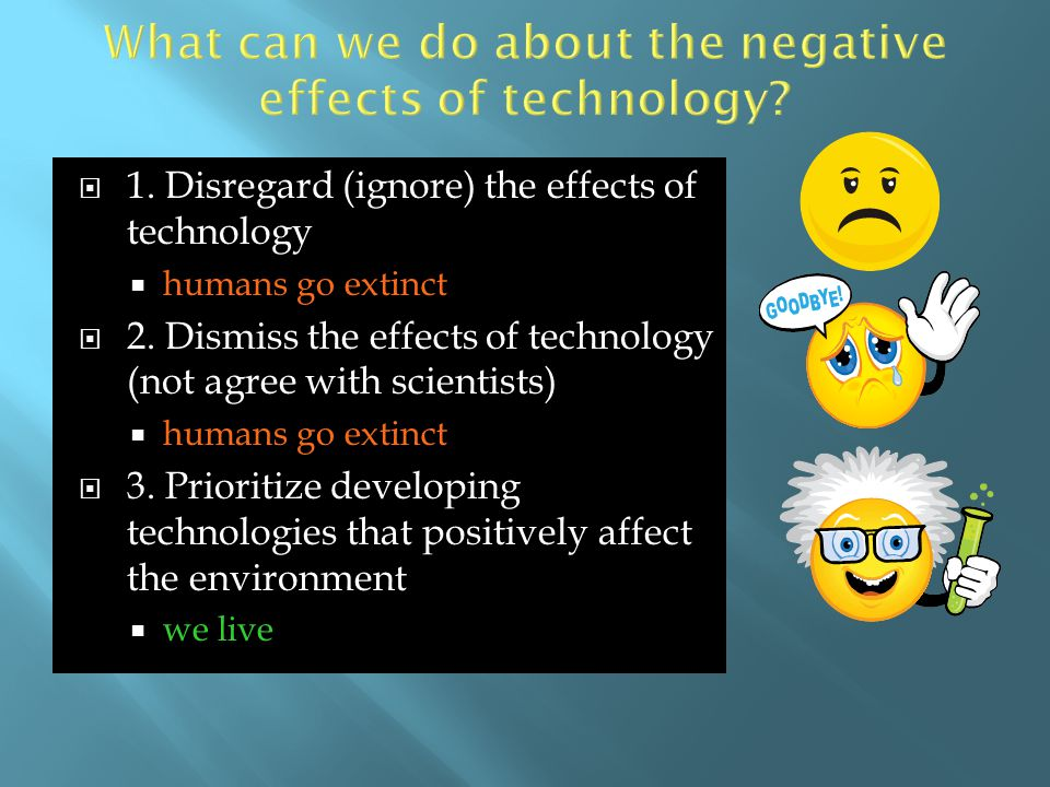 What can we do about the negative effects of technology