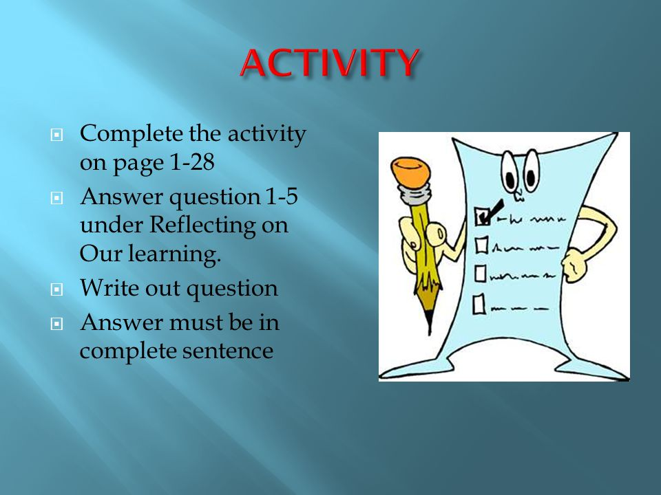 ACTIVITY Complete the activity on page 1-28
