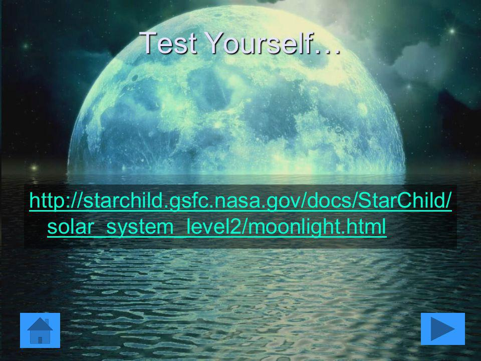 Test Yourself… http://starchild.gsfc.nasa.gov/docs/StarChild/solar_system_level2/moonlight.html