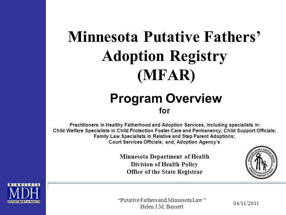 Putative Fathers and Minnesota Law