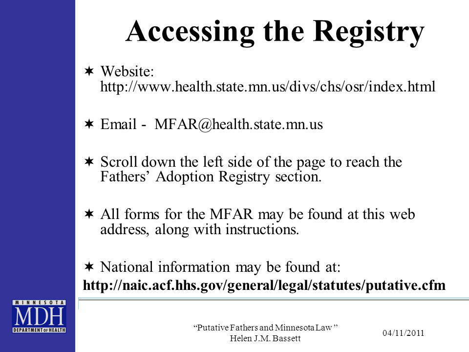 Accessing the Registry