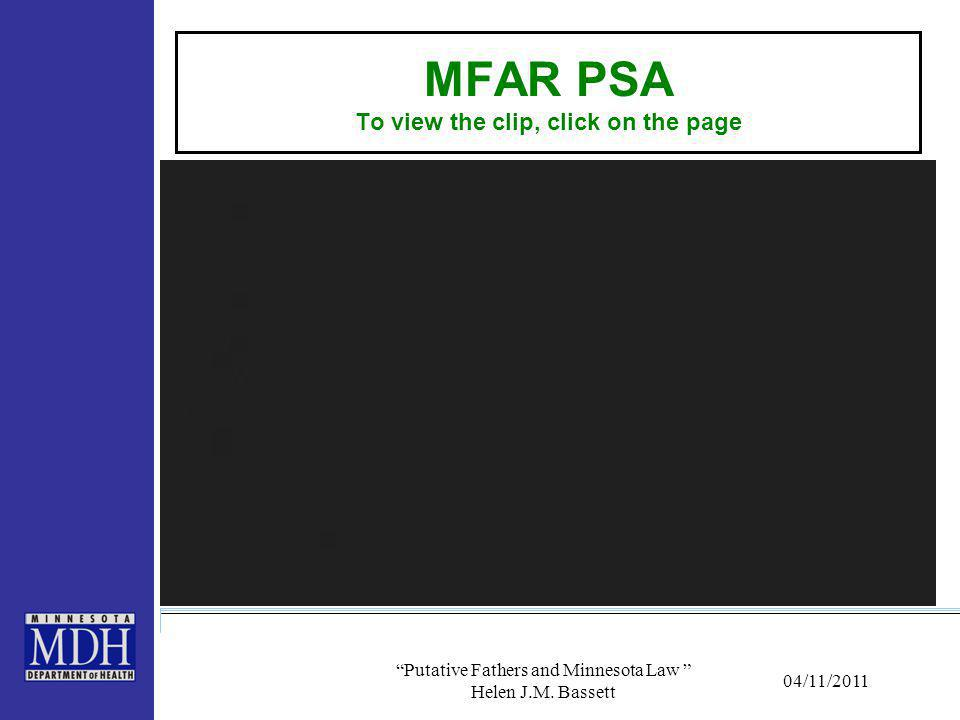 MFAR PSA To view the clip, click on the page