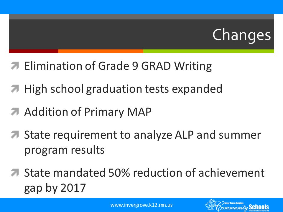 Changes Elimination of Grade 9 GRAD Writing