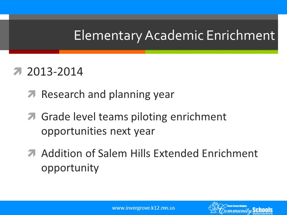 Elementary Academic Enrichment