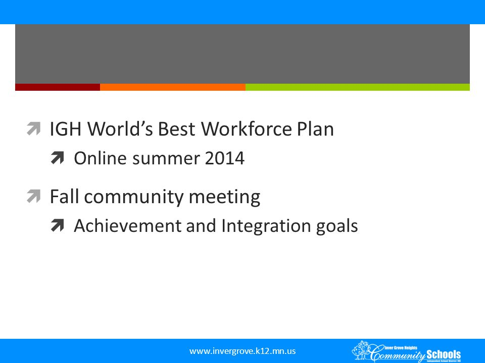 IGH World's Best Workforce Plan Fall community meeting