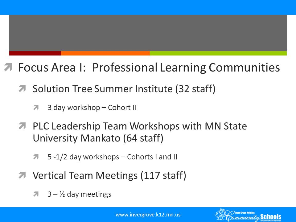 Focus Area I: Professional Learning Communities