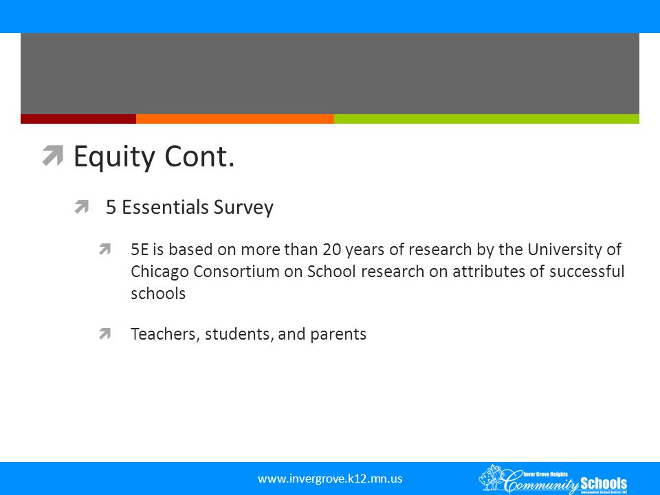 Equity Cont. 5 Essentials Survey